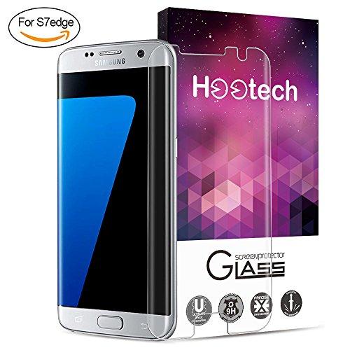 [1-Unidades] Protector de Pantalla Samsung Galaxy S7 Edge, Hootech Cristal Vidrio Templado...