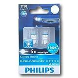Philips T10 X-treme Ultinon 127996700KX2 LED Exterior Light (12V, 1W)