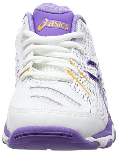 Asics Gel-netburner Super 6, Chaussures Multisport Indoor femme Blanc (white/asics Blue/iris 0143)