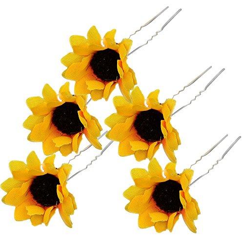 Bluelans 5 X Sonnenblume Haarnadeln Haarschmuck Hochzeit Brautschmuck