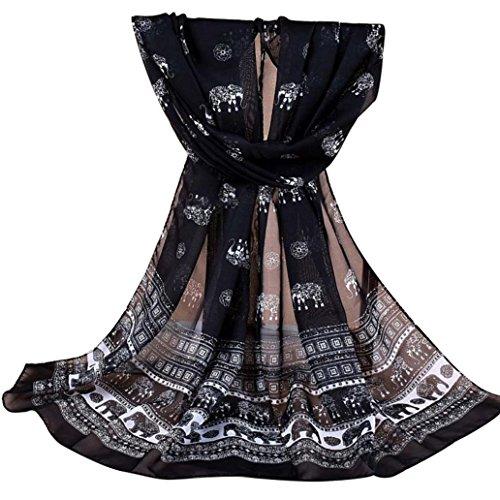 YOSEMITE Damen Stola schwarz schwarz Einheitsgröße