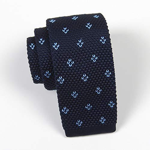 TieSilbA Krawatten für Herren Freizeit-Strickkrawatte für Herren 6 cm, A2119 Tibetan Bluegrass
