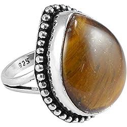 Silvestoo India Tiger Eye Ring Sz 7 PG-122542