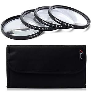 52mm Close up Lens +1+2+4+10 Macro Filter Set for Nikon D800 D700 D600 D300S D300 D7100 D7000 D5200 D5100 D5000 D3200 D3100 D3000 D90 LF57