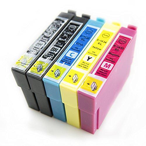 ASTA Cartucce d'inchiostro 16XL T1631-T1634 5-Pacco (2 Neri 1 Ciano 1 Magenta 1 Giallo) Alta Capacità Compatibile per Epson Workforce WF-2750DWF WF-2760DWF