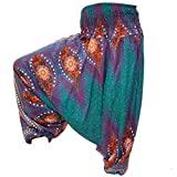 PANASIAM Aladin Pants, Print-Design-Style: Peacock v12