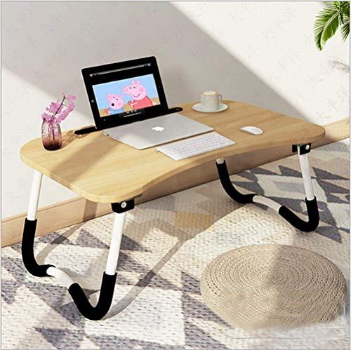 Barbieya Notebook-Tisch, Schlafsaal mit kleinem Schreibtisch, Bett mit Laptop-Tisch, Klapptisch, kleines Wohnheim, mit Tassenschlitz (60 x 40 cm) (Kinder Bett Möbel)