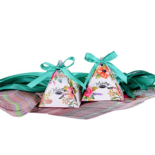 comprare on line Wolfteeth 100 pz scatole portaconfetti Porta bomboniere segnaposti scatoline Regalo per Festa Battesimo Nascita Comunione Compleanno Nozze prezzo