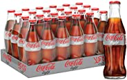 Coca-Cola Light Carbonated Soft Drink, Glass Bottle -290ml (Pack of 24)