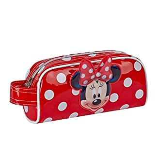 Karactermania Minnie Mouse Estuches, 20 cm, Rojo