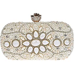Bolso de Mano con detalles de piedras - varios tonos a elegir