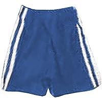 Sport Esercizio & Fitness Formazione Trunk pantaloncini sportivi a gamba lunga a righe, Navy/White, 34