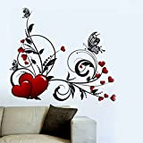 Decals Design 'Hearts with Floral' Wall ...