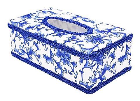 Kreative blau und weiß Keramik Tissue Box für Auto oder zu Hause Groß Holders