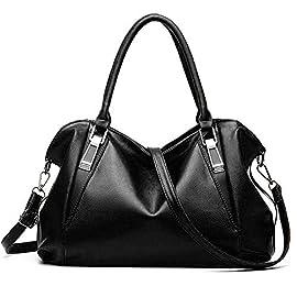 Women Handbags, Ufishy PU Leather Multiple Pockets Long Strap Cross Body Large Capacity Shoulder Bag