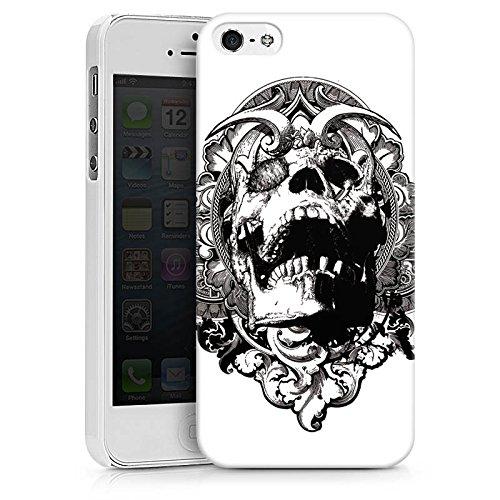 Apple iPhone X Silikon Hülle Case Schutzhülle Skull Dämonen Totenkopf Hard Case weiß