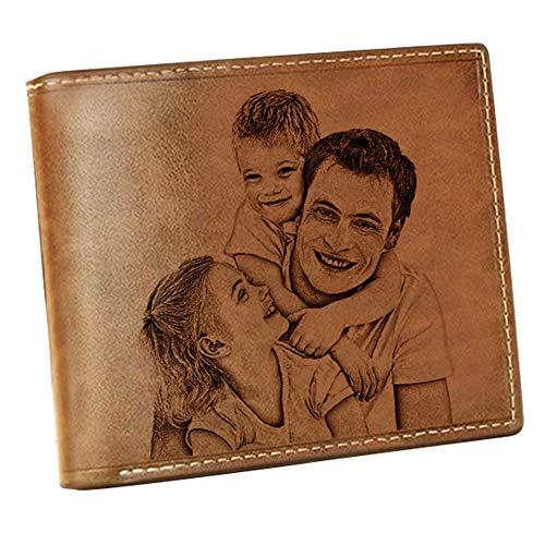 Cartera Billetera Personalizado Foto Grabado Palabras