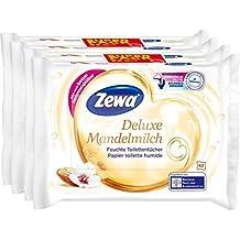 Zewa Caja de toallitas húmedas con leche de almendras, 4 unidades de 42 toallitas cada una