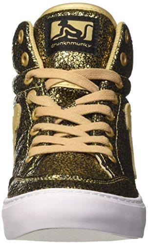 DrunknMunky Boston Galaxia, Scarpe da Tennis Donna Oro (Gold)