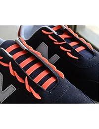 12Pcs silicona elástica no tie cordones para zapatos, Ularma Novedad unisex sin corbata cordones de silicona elástica zapatillas de zapatos perezosos cordones