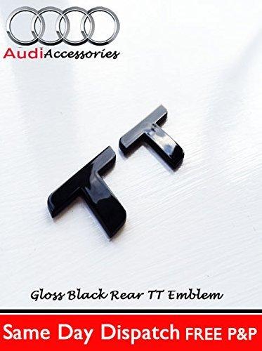 Audi TT Glanz schwarz Heck Emblem TTRS Buchstaben Kofferraum Haube Heck Koffer Sport (Buchstaben Haube)