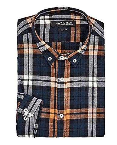 Zara Homme Chemise à carreaux en flanelle 6608/421 (Large)