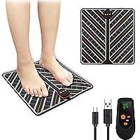Moonssy Masajeadores eléctricos para pies - Pulsos de Baja Frecuencia Estimulación Muscular Eléctrica, Cojín de Masaje de Pies Fisioterapia Inteligente