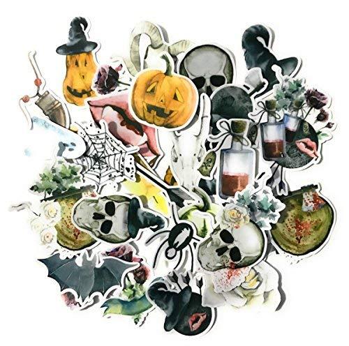 Pegatinas de calaveras y Halloween para álbumes de recortes y...