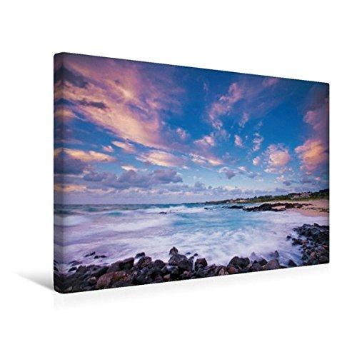 Preisvergleich Produktbild Premium Textil-Leinwand 45 cm x 30 cm quer, Romantischer Sonnenuntergang am idyllischen Gwakji Strand auf der Insel Jeju-do | Wandbild, Bild auf ... Jeju-do, Südkorea, Asien (CALVENDO Orte)