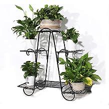 Malayas Estantería Decorativa de Hierro para Macetas Soporte de Flores Plantas para Exterior Interior Jardín con