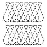 hysagtek 100pcs techo gancho Clips Figure-8Squeeze perchas para fiestas, bodas o aula oficina decoración para el hogar