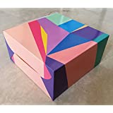 RELIABLE PACKAGING ABSTRACT PRINT CAKE BOX -for 1kg cake - pack of 8