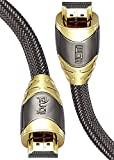 IBRA® LUXURY GOLD High Speed 3 Meter Gold Plated HDMI to HDMI cable with 4K@60Hz, 3D, Ethernet and Audio Return Channel,Version 2.0/1.4a