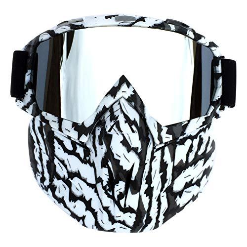 Goyajun Entfernbare Masken Motorrad Schutzbrillen - Anti-Nebel Motocross Gläser Staub Beweis Sturzhelm Roller Brillen Weicher Schwamm für Weg Von der Straße die Airsoft ()
