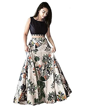 Suppar Sleave Women's Crepe Silk Dress (SHS-108_Multicolor_Free Size)