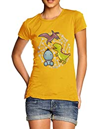 TWISTED ENVY Women's Baby Dinosaurs T-Shirt