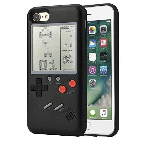 Game Phone Shell per iPhone 6/7/8 TPU Custodia Cover in silicone Phone Shell che può giocare a giochi classici Robusta collisione può giocare a Tetris e Snake - Game Controller (iphone 7, nero)