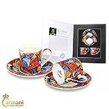 Carmani - 2 parti Espresso Set con Pierre Dissard 'Virtuoso' 100ml