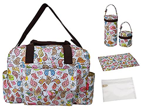 ECOSUSI Handy Baby Nappy Changing Bags Wipable Totes 5pcs Multifunctional Designer Mummy Handbag