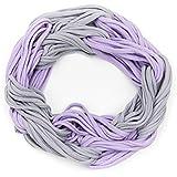 ManuMar Loop-Schal für Damen | Hals-Tuch mit Streifen in Unifarben als perfektes Sommer-Accessoire | Schlauch-Schal - Das ideale Geschenk für Frauen
