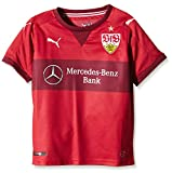 Puma Kinder Trikot VfB Stuttgart Away Replica Shirt with Sponsor Logo, Team Regal Red/Cordovan, 176, 924159 22