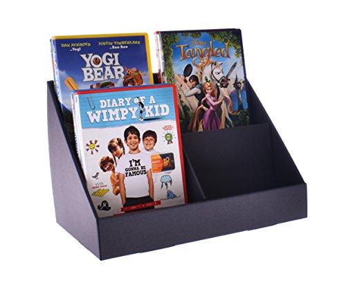 stand-store 4Pocket Point of Sale Display Ständer aus Karton für CD 's/DVD 's/Grußkarten-Schwarz -