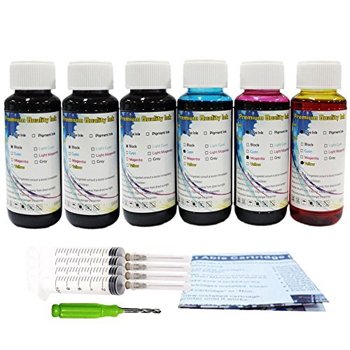 HOTCOLOR Per Bottle 100ML Refill Dye Ink Inkjet For HP 662 662XL Cartridges Deskjet Ink Advantage 1015,1515,2515,2545,2645 Printer (6*100ML)  available at amazon for Rs.3799