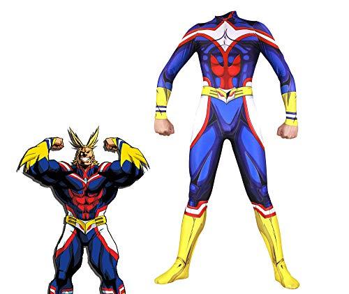 Hero Kostüm Custom - HEROMEN My Hero College Blau Oummet Cosplay Kostüm Lycra Siamese Strumpfhosen 3D Digitaldruck Enge Weihnachten Halloween Kostüm Für Erwachsene,Custom