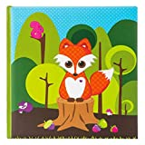 Goldbuch Kinderalbum, Little Fox, 30 x 31 cm, 60 weiße Seiten mit Pergamin-Trennblättern, Kunstdruck laminiert, Grün, 27031