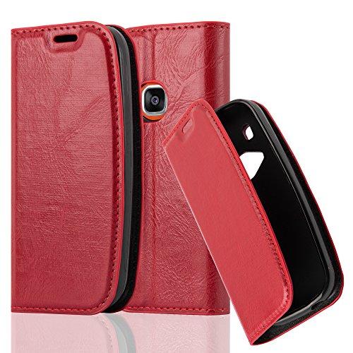 Cadorabo Hülle für Nokia 3310 - Hülle in Apfel ROT – Handyhülle mit Magnetverschluss, Standfunktion und Kartenfach - Case Cover Schutzhülle Etui Tasche Book Klapp Style