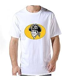 Fly&Tian Guys Love 100% Cotton Pittsburgh Pirates Mlb Logo T Shirt