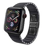 BZLine Armband | Luxus Schmetterlings-Schnalle Edelstahl Uhrenarmband | Für Apple Watch Series 4 Sport-Armband | Bandlänge: 7,1 Zoll Damen Herren