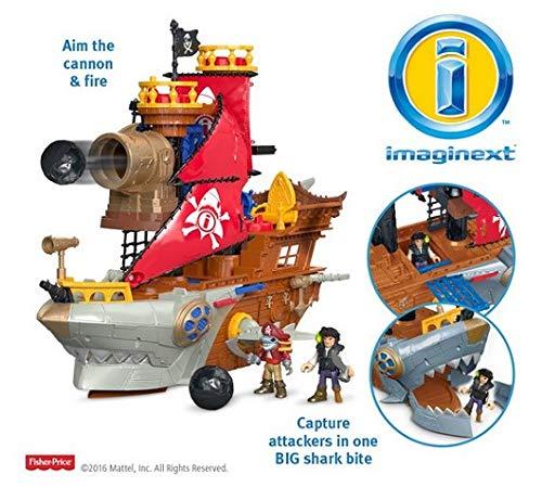 Fisher-Price Imaginext Shark Bite Pirate Ship Playset.