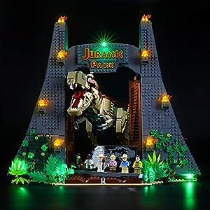 BRIKSMAX Kit di Illuminazione a LED per Lego Jurassic World Jurassic Park: T. Rex Rampage,Compatibile con Il Modello… 0781621990849 LEGO